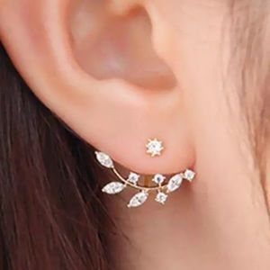Jewelry - Pair Pierced Water Drop Crystal Earring jacket new